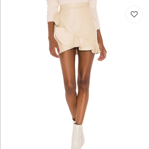 NWT Majorelle Poseidon Mini Skirt in Bone White